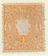 GERMAN STATES - SACHSEN / SAXONY - 1863 - Mi 15 - Saxony