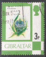 Gibraltar. 1977 Birds, Flowers, Fish And Butterflies. 3p Used. SG 378 - Gibraltar