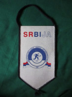 Bocce Ball Alliance Of Serbia-Beograd-1989 -Small Sport Flag 12 X 20 Cm-Bocarski Savez Srbije - Pétanque