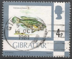 Gibraltar. 1977 Birds, Flowers, Fish And Butterflies. 4p Used. SG 379 - Gibraltar