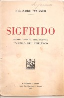 LIBRETTO OPERA SIGFRIDO R. WAGNER 1930  BARION - Scores & Partitions