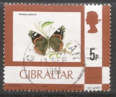 Gibraltar. 1977 Birds, Flowers, Fish And Butterflies. 5p Used. SG 380 - Gibraltar