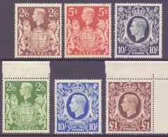 Great Britain 1939-48 George VI High Values Superb UM Set Of 6 - 1902-1951 (Re)