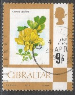 Gibraltar. 1977 Birds, Flowers, Fish And Butterflies. 9p Used. SG 382 - Gibraltar