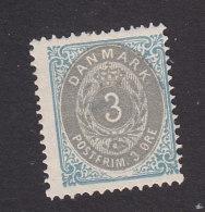 Denmark, Scott #25, Mint Hinged, Number, Issued 1875 - 1864-04 (Christian IX)