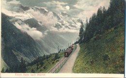 Suisse   Union Postale :train Etect. Bach Nach Murren Sur  Voie Ferrée En Campagne - BE Berne