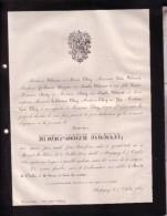 MESNIL-ST-BLAISE STERPIGNY Hubert STILMANT 1824-1882 Famille THIRY HAP Faire-part Mortuaire Lettre Avis Décès - Todesanzeige