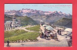 Kt Schwyz, RIGI KULM, HOTEL, WEG, TERRASSE Mit LEUTE // Gelaufen In 1910 - SZ Schwyz