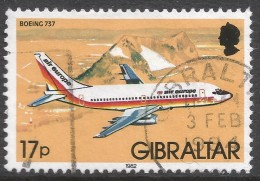 Gibraltar. 1982 Aircraft. 17p Used. SG 468 - Gibraltar