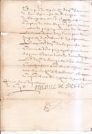 Quittance 1662-jeanne De Serres - France