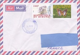 R] Enveloppe Cover Burundi Papillon Butterfly Singe Ape
