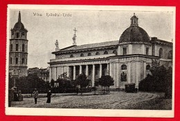 Lituanie. Vilnius. Cathédrale Saints Stanislas Et Ladislas. Tour De L'horloge. Feldpoststation Nr 69. 1916 - Lituanie