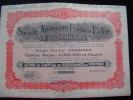 """Action""""S.A.Franco Belge Le Porphyre""""Lessines 1931 Excellent état,avec Tous Les Coupons - Industrie"""