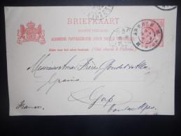 Pays Bas , Entier Postal De Arnhem 1902 Pour Gap - Postal Stationery