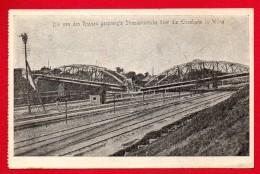 Lituanie. Vilnius. Gare. Pont Routier Sur Les Voies Ferrées Détruit Par Les Russes. Feldpost Der  89. Inf. Div. 1916 - Lituanie