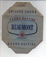 """Publicité - Emballage En Carton Complet Sucre En Morceaux Raffiné 1 KG """" Beaumont Hénin """" Voir Exemple ! - Werbung"""