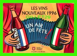 ADVERTISING - PUBLICITÉ - SOCIÉTÉ DES ALCOOLS DU QUÉBEC - LES VINS NOUVEAUX 1996 - POP MÉDIA - - Reclame