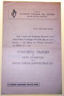 GIOVENTU´ ITALIANA DEL LITTORIO PROGRAMMA CONCERTO SAGGIO  - 1941 - Programs