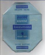 """Publicité - Rare ! Emballage En Carton Complet De Sucre Morceaux 1 KG """" Beaumont  """" Henin Voir Exemple ! - Werbung"""