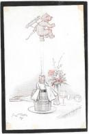 REDON. Angelot Au Bouchon De Champagne... Bouteille, Seau PUB Champagne LEBEAU, EPERNAY - Redon