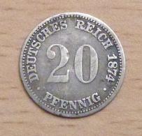 ALLEMAGNE 20 PFENNIG ARGENT 1874 A - [ 2] 1871-1918: Deutsches Kaiserreich
