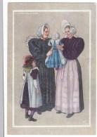 Dutch Fashion Artist Image, Huizen 1920, Women With Baby, C1940s Vintage Postcard - Europe