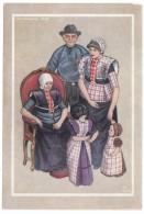 Dutch Fashion Artist Image, Spakenburg 1948, Family 3 Generations, C1940s Vintage Postcard - Europe