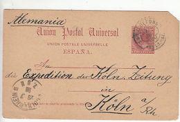 Spain: Postcard, San Iledefonso, Segovia, To Cologne, Germany, 20-23 July 1886 - Unclassified