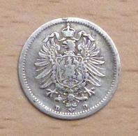 ALLEMAGNE 20 PFENNIG ARGENT 1875 D - [ 2] 1871-1918: Deutsches Kaiserreich