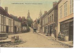 AUBE ST MARDS EN OTHE Rue De La Foire Aux Chevaux Animée écrite Colorisée - Autres Communes