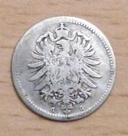 ALLEMAGNE 20 PFENNIG ARGENT 1875 G - [ 2] 1871-1918: Deutsches Kaiserreich