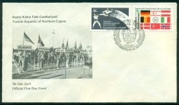 AC - NORTHERN CYPRUS FDC - EUROPEAN TAEKWONDO CHAMPIONSHIP GIRNE 10 DECEMBER 1984 - Cartas