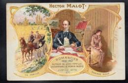 CPA PUBLICITE - CHICOREE EXTRA LEROUX - HECTOR MALOT - Romancier - En Famille - Mariage Riche -#194 - Publicité