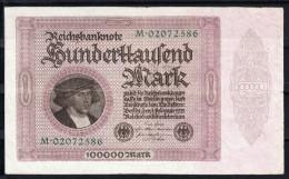 ALEMANIA 1923 100.000 MARK  PICK Nº 85c. ROSENBERG Nº 82a  MBC .B799 - [ 3] 1918-1933 : Weimar Republic