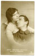 PATRIOTIC COUPLE : HAPPY MEMORIES BRIGHTEN DAYS OF ABSENCE - Patriotic