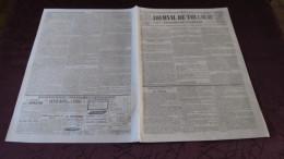 CORNEBARRIEU - L´INONDATION CATASTROPHIQUE DE 1845 ( JOURNAL DE TOULOUSE ) - N° 1. - Newspapers