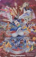 Télécarte Métal Argent Japon / MF-1001577 - DISNEY - DISNEYLAND / 20 YEARS - Mickey & Minnie Japan Silver Phonecard - Disney