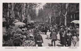 RP: BARCELONA , Spain, 1929 ; Rambla De Las Flores - Barcelona