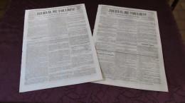 CORNEBARRIEU - L´INONDATION CATASTROPHIQUE DE 1845 ( JOURNAL DE TOULOUSE  X2 ) - N° 2. - Newspapers