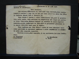 PT. 52. Stambruges, Convocation Des Anciens Combattants Pour Le Tir Du Roi En 1954 - Documentos Históricos