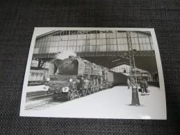 TROYES (10)   Photographie Locomotive à Vapeur Train Gare Gros Plan 1958 - Troyes