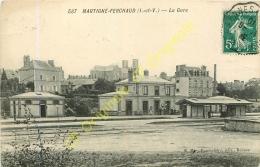 35. MARTIGNE FERCHAUD .  La Gare . - France