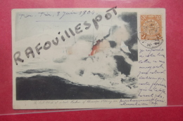 Cp  The  First Attack  At Outside Harbour Of Chimulpo Postee Du Japon 1904 - Altre Guerre
