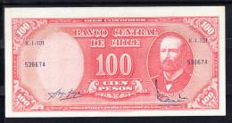 CHILE 1960    100 PESOS.ARTURO PRAT  PICK Nº 127 NUEVO SIN CIRCULAR  B802 - Chile