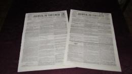 CORNEBARRIEU - L´INONDATION CATASTROPHIQUE DE 1845 ( JOURNAL DE TOULOUSE  X2 ) - N° 3. - Journaux - Quotidiens