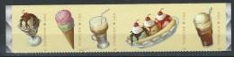 USA. Scott # 5093-97 MNH Strip Of 5. Ice Cream 2016 - Bandes & Multiples