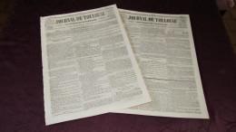 CORNEBARRIEU - L'INONDATION CATASTROPHIQUE DE 1845 ( JOURNAL DE TOULOUSE X 2 ) - N° 4. - Newspapers