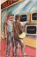 Illustrateur  P.Ordner  2 Clochards  Besaces  Bouteille Television Photochrom  N°30311 - Ordner, P.