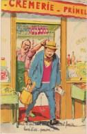 Illustrateur  P.Ordner  Crémerie Marchand , Client , Pain , Bouteille Photochrom  N°30321 - Ordner, P.