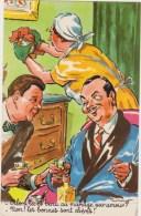 Illustrateur  P.Ordner ,hommes, Employée Tablier Blanc Ménage ,bouteille  Photochrom  N°30313 - Humour